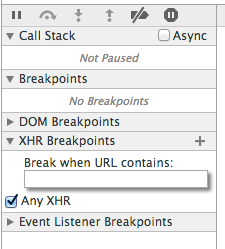 An ajax breakpoint