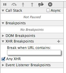 An ajax breakpoint